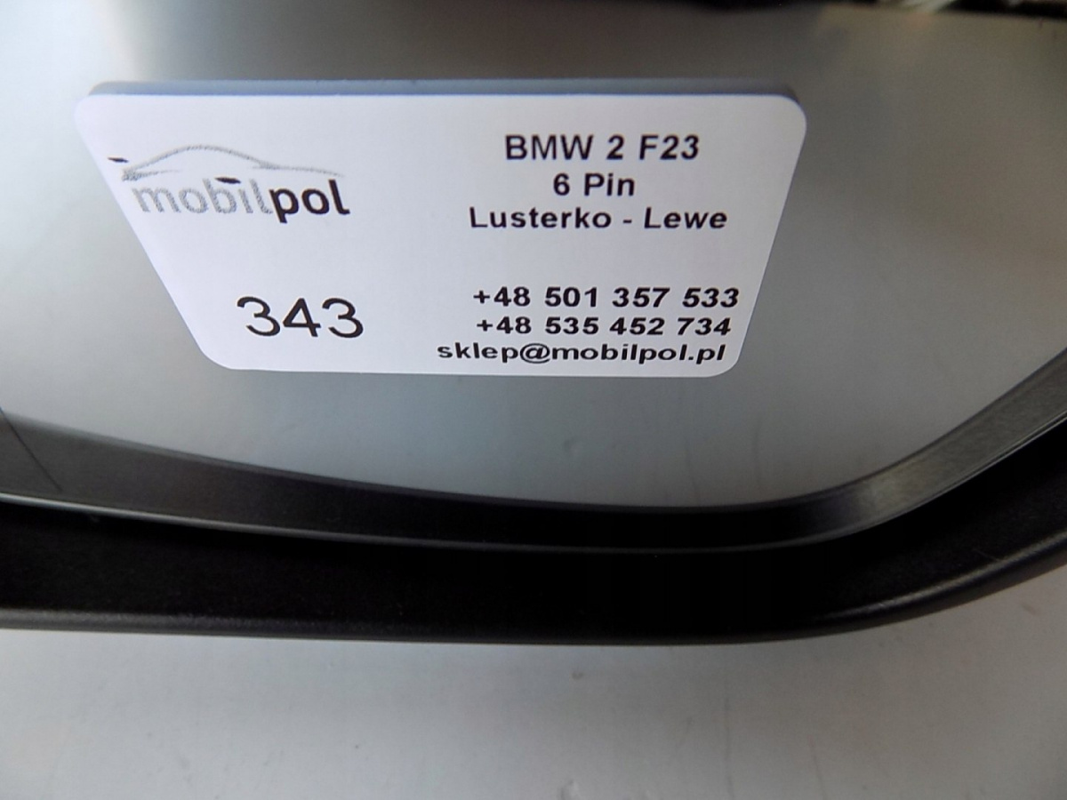 BMW 2 F23 Mirror L 6 PIN - 0343