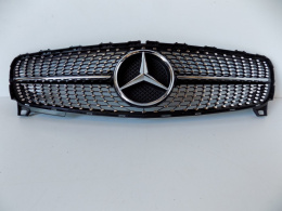 Mercedes A-Class W176-Atrapa/Grill Diamond, New Black-4042