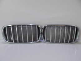 BMW X5 F15 kidneys/bumper grille Silver/chrome-3824